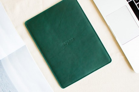 "Leather sleeve iPad 9.7"",10.5"",12.9"" // PELTA (Green)"