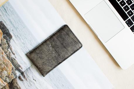 iPhone  leather sleeve // PELTA (Graphite)